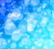 Abstrakter bokeh Funkelnhintergrund, Blau, cyan-blau Festival, fantacy, Feier Genießen Sie und Glück lizenzfreie abbildung