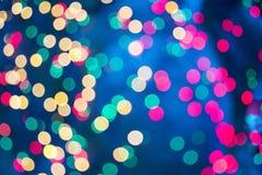 Abstrakter bokeh Hintergrund Christmaslight Lizenzfreies Stockbild