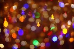 Abstrakter bokeh Hintergrund für Winterurlaube stockfoto