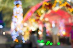 Abstrakter bokeh Hintergrund nachts Lizenzfreie Stockfotos