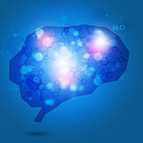 Abstrakter Brain Chemistry Background Lizenzfreie Stockfotos