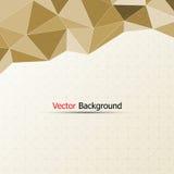 Abstrakter brauner Hintergrund des Polygons für Design stock abbildung