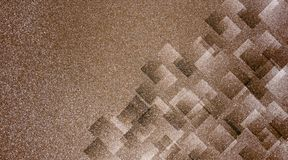 Abstrakter brauner Hintergrund schattiertes gestreiftes Muster und Blöcke in den diagonalen Linien mit Weinlesebraunbeschaffenhei lizenzfreie stockfotografie