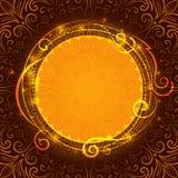 Abstrakter brauner mystischer Spitzehintergrund mit Strudel Stock Abbildung