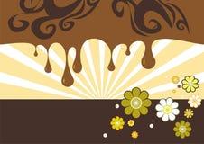 Abstrakter Braunton Hintergrund stock abbildung