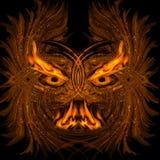Abstrakter brennender Dämon Stockbilder
