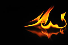 Abstrakter brennender Drache. Lizenzfreie Stockfotos