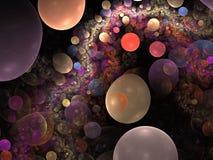 Abstrakter Bubblered Hintergrund Stockbild