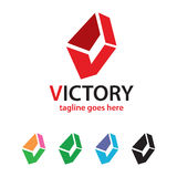 Abstrakter Buchstabe V Logo Template Design Vector Lizenzfreie Stockfotos
