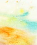 Abstrakter bunter Aquarellhintergrund Stockbild