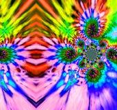 Abstrakter bunter Bindungsfärbungs-Regenbogenhintergrund Leinwandkopie stockbilder