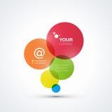 Abstrakter bunter Blasenhintergrund mit Ihrem Text Lizenzfreies Stockfoto