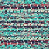 Abstrakter bunter blauer und roter Weinlesefarbhintergrund Stockfotografie