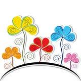 Abstrakter bunter Blumen-Hintergrund vektor abbildung