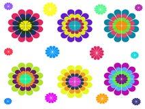 Abstrakter bunter Blumenhintergrund Vektor Abbildung