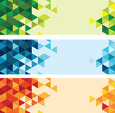 Abstrakter bunter Dreieckhintergrund Lizenzfreies Stockfoto