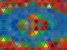 Abstrakter bunter Dreieckhintergrund Stockbild