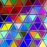 Abstrakter bunter Dreieckhintergrund Lizenzfreie Stockfotos