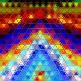 Abstrakter bunter Dreieckhintergrund Lizenzfreies Stockbild