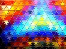 Abstrakter bunter Dreieckhintergrund Stockfotografie