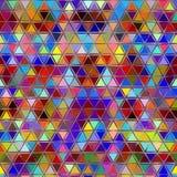 Abstrakter bunter Dreieckhintergrund Lizenzfreie Stockbilder