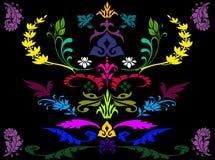Abstrakter bunter Florahintergrund Vektor Abbildung