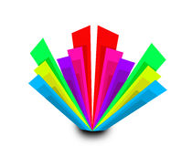 Abstrakter bunter geometrischer Rechteckformhintergrund Vektor Abbildung
