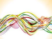 Abstrakter bunter glänzender Wellenhintergrund Lizenzfreies Stockfoto