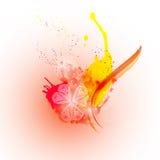 Abstrakter bunter glücklicher Holi-Hintergrund Design für indisches Festival von Farben Lizenzfreie Stockfotos