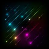 Abstrakter bunter Glühenhintergrundvektor Lizenzfreies Stockbild
