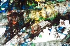 Abstrakter bunter handgemalter Hintergrund Lizenzfreie Stockfotografie