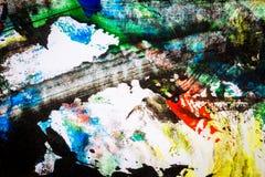 Abstrakter bunter handgemalter Hintergrund Stockbild