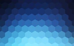 Abstrakter bunter Hintergrund der Hexagone lizenzfreie abbildung