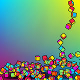 Abstrakter bunter Hintergrund des Mosaiks 3d EPS8 Stockfotografie