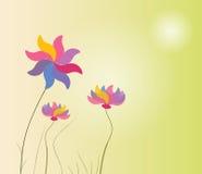 Abstrakter bunter Hintergrund mit Blumen Vektor Lizenzfreie Stockfotografie