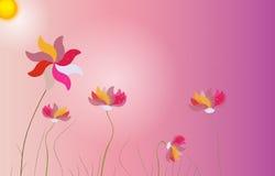 Abstrakter bunter Hintergrund mit Blumen Vektor Stockbilder