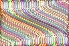 Abstrakter bunter Hintergrund mit gewelltem dünnem linesStripy Hintergrund für Druck auf der Verpackung Bunter Regenbogen der Vek Lizenzfreies Stockfoto