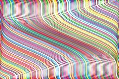 Abstrakter bunter Hintergrund mit gewelltem dünnem linesStripy Hintergrund für Druck auf der Verpackung Bunter Regenbogen der Vek Lizenzfreie Stockfotografie