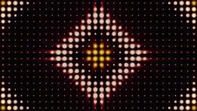 Abstrakter bunter Hintergrund mit glänzenden Scheinwerfern in den Formen des Kreises und der Raute, Konzertbeleuchtung animation vektor abbildung