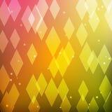 Abstrakter bunter Hintergrund mit Rauten Stockfotografie