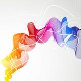 Abstrakter bunter Hintergrund mit Welle von Linien Lizenzfreies Stockfoto