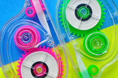 Abstrakter bunter Hintergrund, Plastikdesign Stockbilder