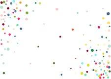Abstrakter bunter Konfettihintergrund Lokalisiert auf dem Weiß Vektorfeiertagsillustration Lizenzfreie Stockfotografie