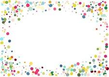 Abstrakter bunter Konfettihintergrund Lokalisiert auf dem Weiß Vektorfeiertagsillustration Stockfotografie