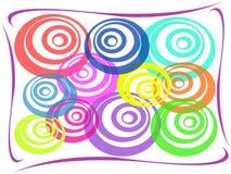 Abstrakter bunter Kreishintergrund Stock Abbildung
