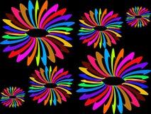 Abstrakter bunter Kreishintergrund Vektor Abbildung