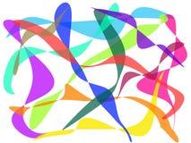 Abstrakter bunter Kurvenhintergrund Lizenzfreie Abbildung