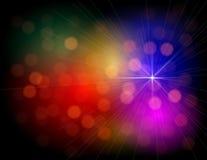 Abstrakter bunter Leuchtehintergrund stock abbildung