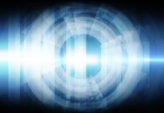 Abstrakter bunter Lichtstrahl Stockbild