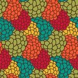 Abstrakter bunter nahtloser Musterhintergrund im Vektor Stockbild